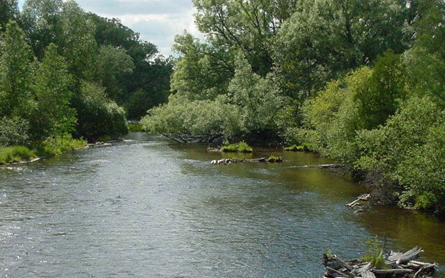 The River Raisin located in rural Monroe County, Michigan, where they located the body of Nevaeh Buchanan in 2009.