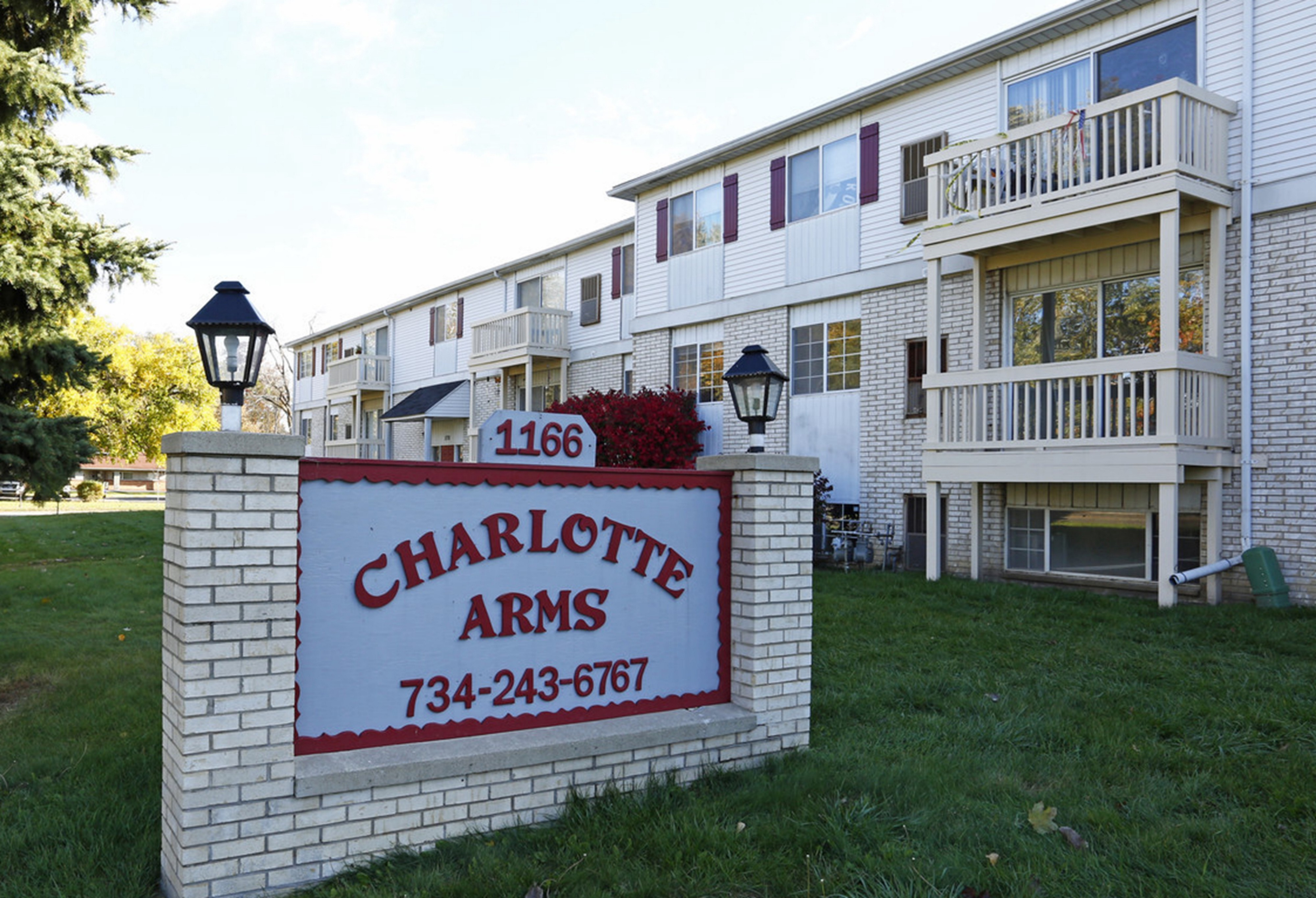 Charlotte Arms Apartments located near downtown Monroe, Michigan.