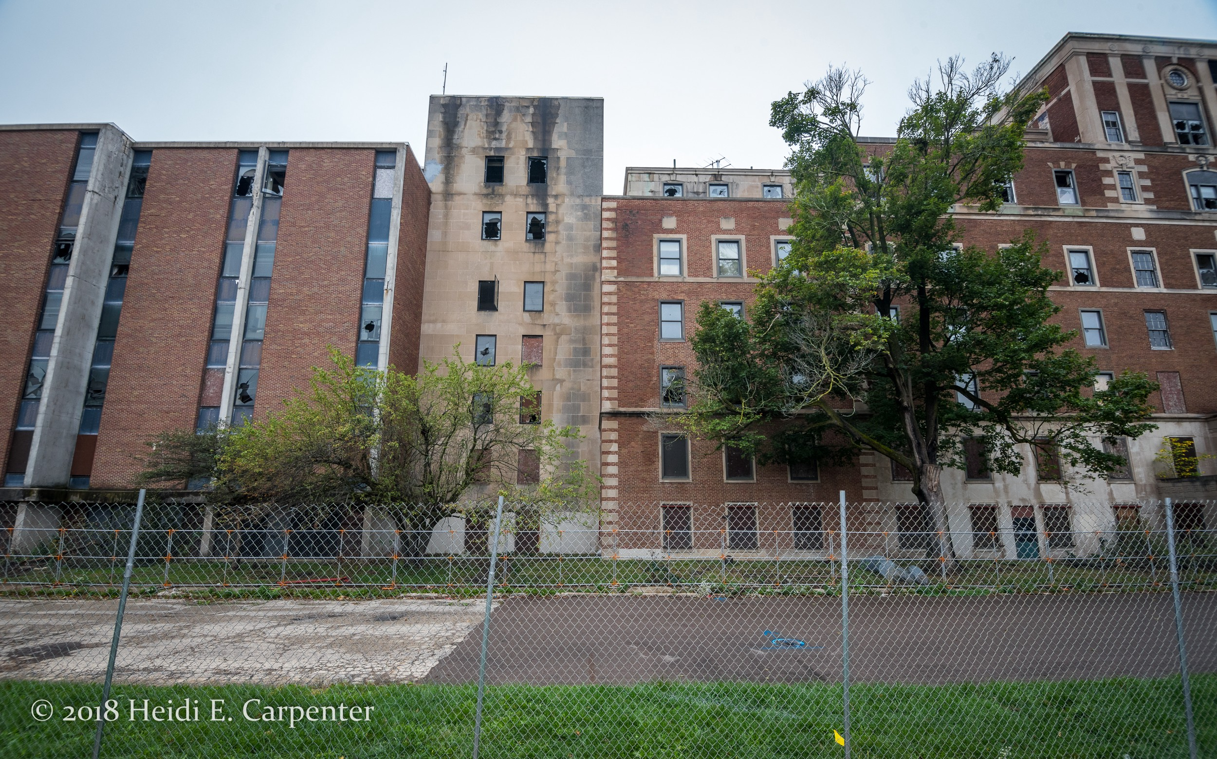 Old Copley Hospital is a juxtaposition of various architectural styles.