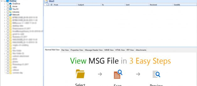 Open MSG File on Windows 10 using Free MSG File Viewer
