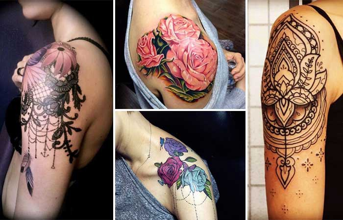 women shoulder tattoo designs