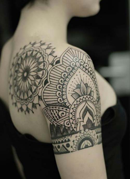 women shoulder tattoos mandala tumblr woman shoulder tattoos