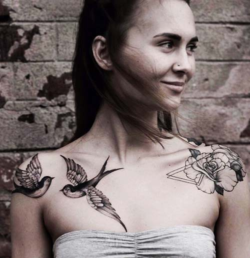 woman shoulder tattoos woman shoulder tattoos 4