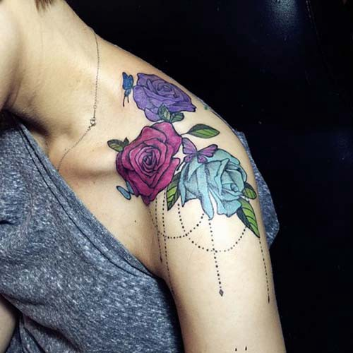 woman shoulder tattoos woman shoulder tattoos 5