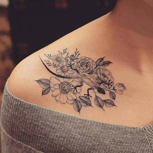 woman shoulder tattoos woman shoulder tattoos 16