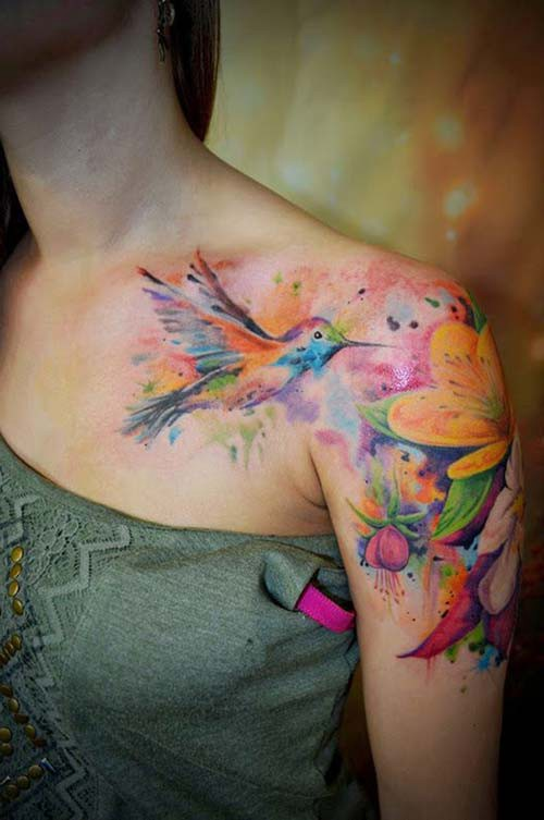 woman shoulder tattoos woman shoulder tattoos 20