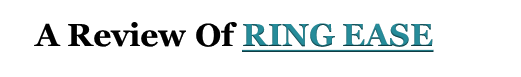 Ring Ease Reviews
