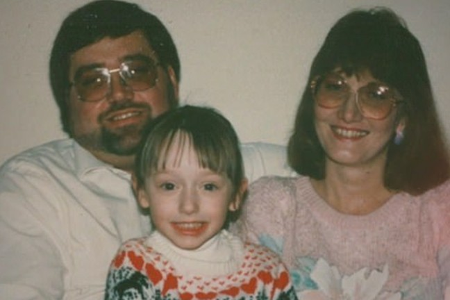 Donald and Helen Robinson with their daughter Heather, who they found out is the daughter of murder victim Lisa Stasi.