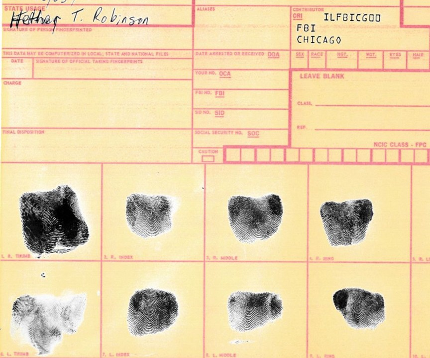 Matching fingerprints and DNA confirmed Heather Robinson was Lisa Stasi?s missing daughter.