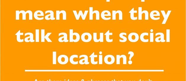 Social location: what people mean