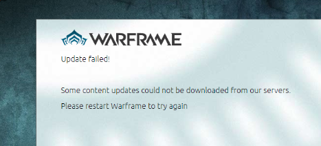 [Solved] Warframe Launcher Update Failed! Error Due to Download Content Corrupted