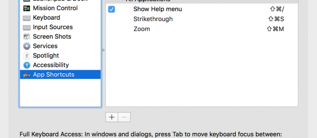Strikethrough Shortcut Key for Multiple Apps on macOS