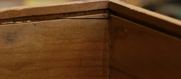 Super simple trick for fixing a broken drawer bottom