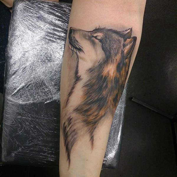 noble wolf tattoo
