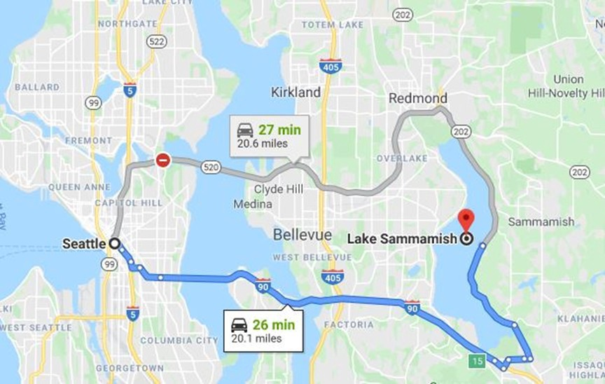 According to Ted Bundy, he abducted Georgann Hawkins and drove her to a remote location at Lake Sammamish, Washington.