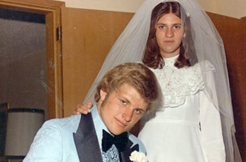 Keith Jesperson with wife Rose Hucke on their wedding day in 1975.