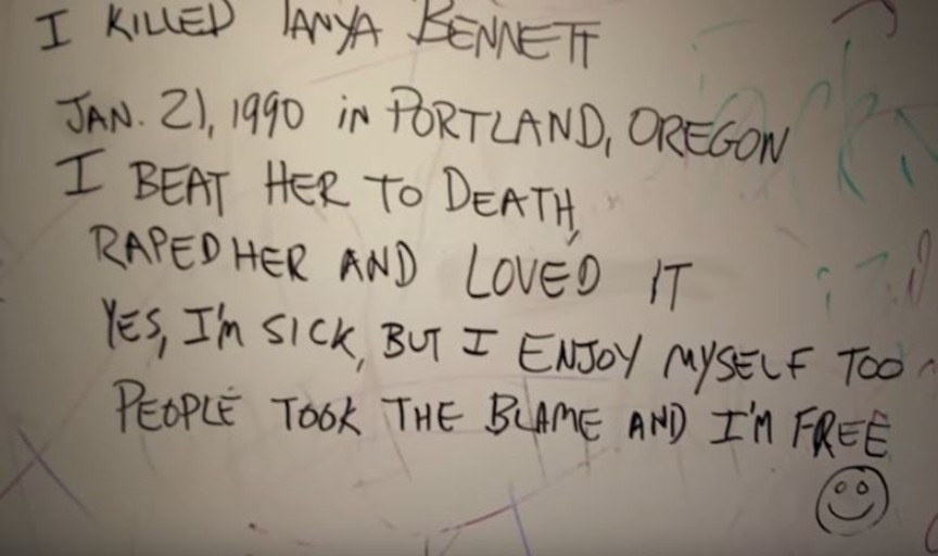 Keith Jesperson, also known as the Happy Face Killer, wrote notes on truck stop bathroom walls.