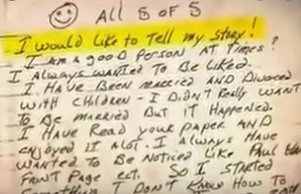 Keith Jesperson wrote anonymous letters to the media and police.