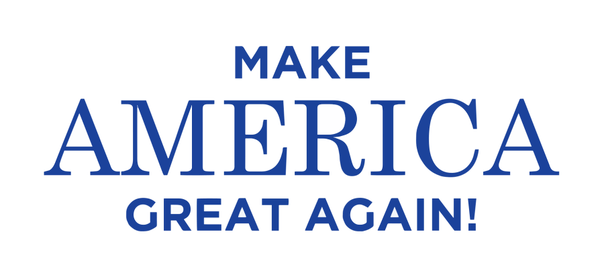 The (unkerned) typeface of Trump's 'Make America Great Again' campaign slogan