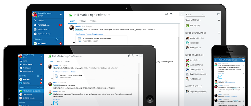 Messaging on Skype for business alternatives: Ryver