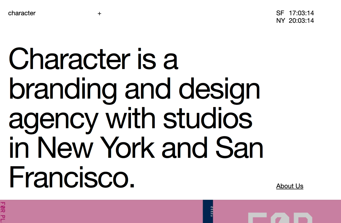 Character???branding and design agency in SF and NYC
