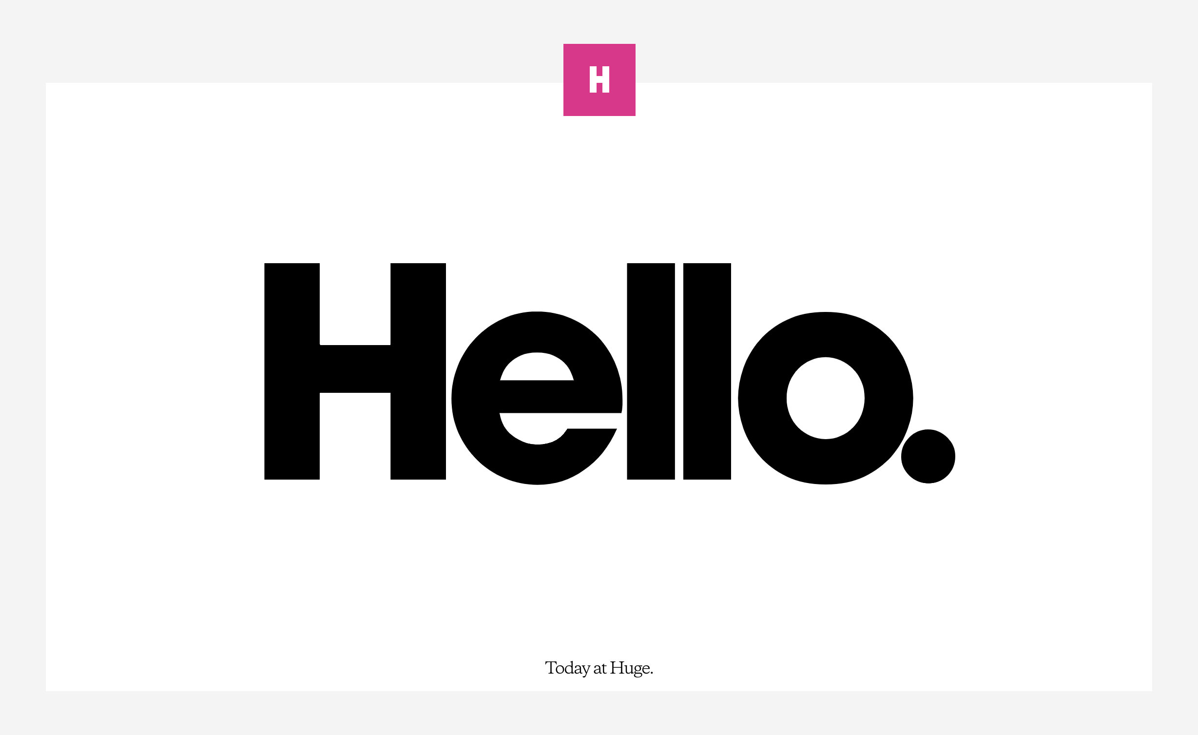 Huge???A Web Design and Branding Agency