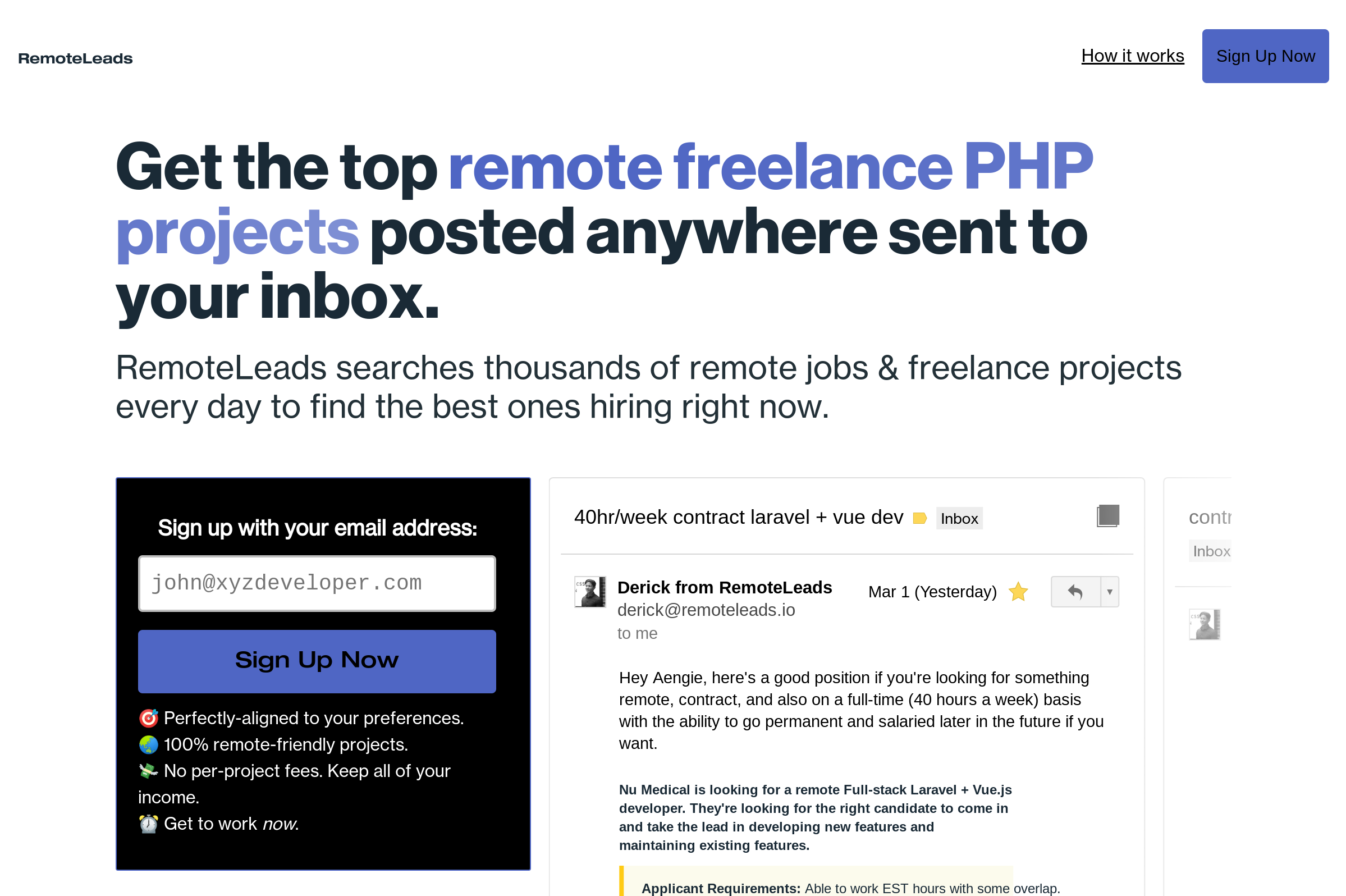 Find remote freelance PHP jobs at RemoteLeads.
