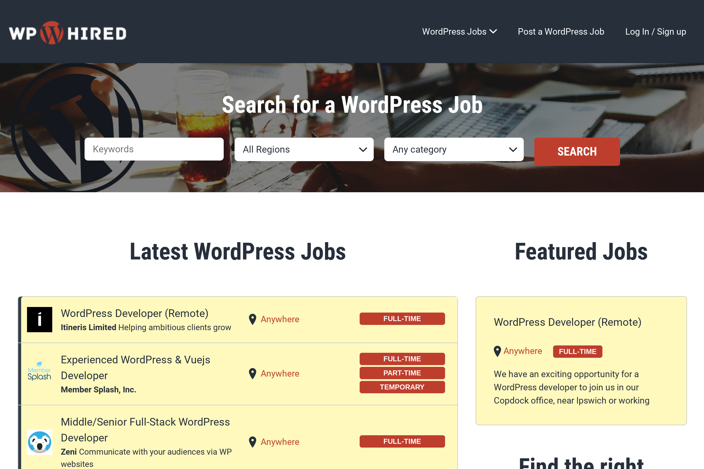 Find Remote Freelance PHP & WordPress Jobs on WPHired.