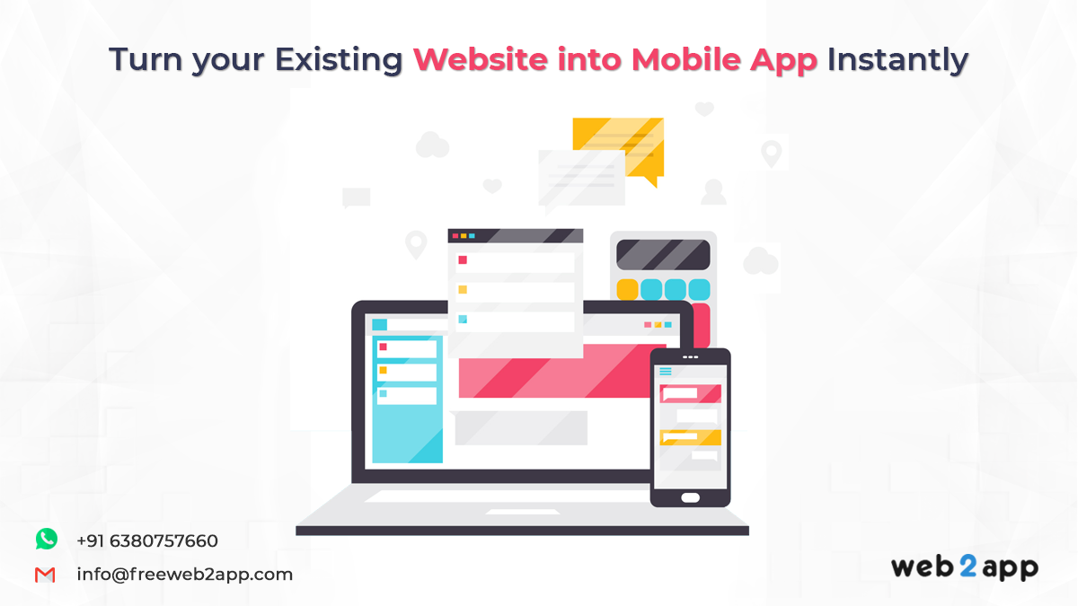 Turn your Existing Website into Mobile App Instantly
