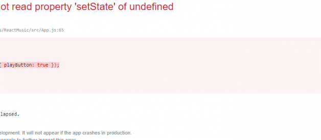 TypeError: Cannot read property 'setState' of undefined