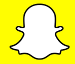 What does Snapchat's logo represent?