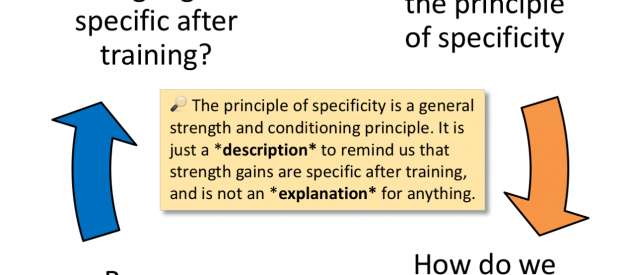 "What does the ""principle of specificity"" actually mean?"
