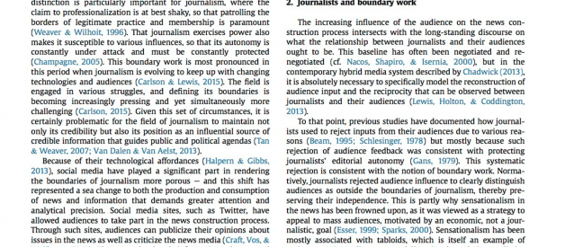 What is the role of gatekeeping journalist's in today's media environment?