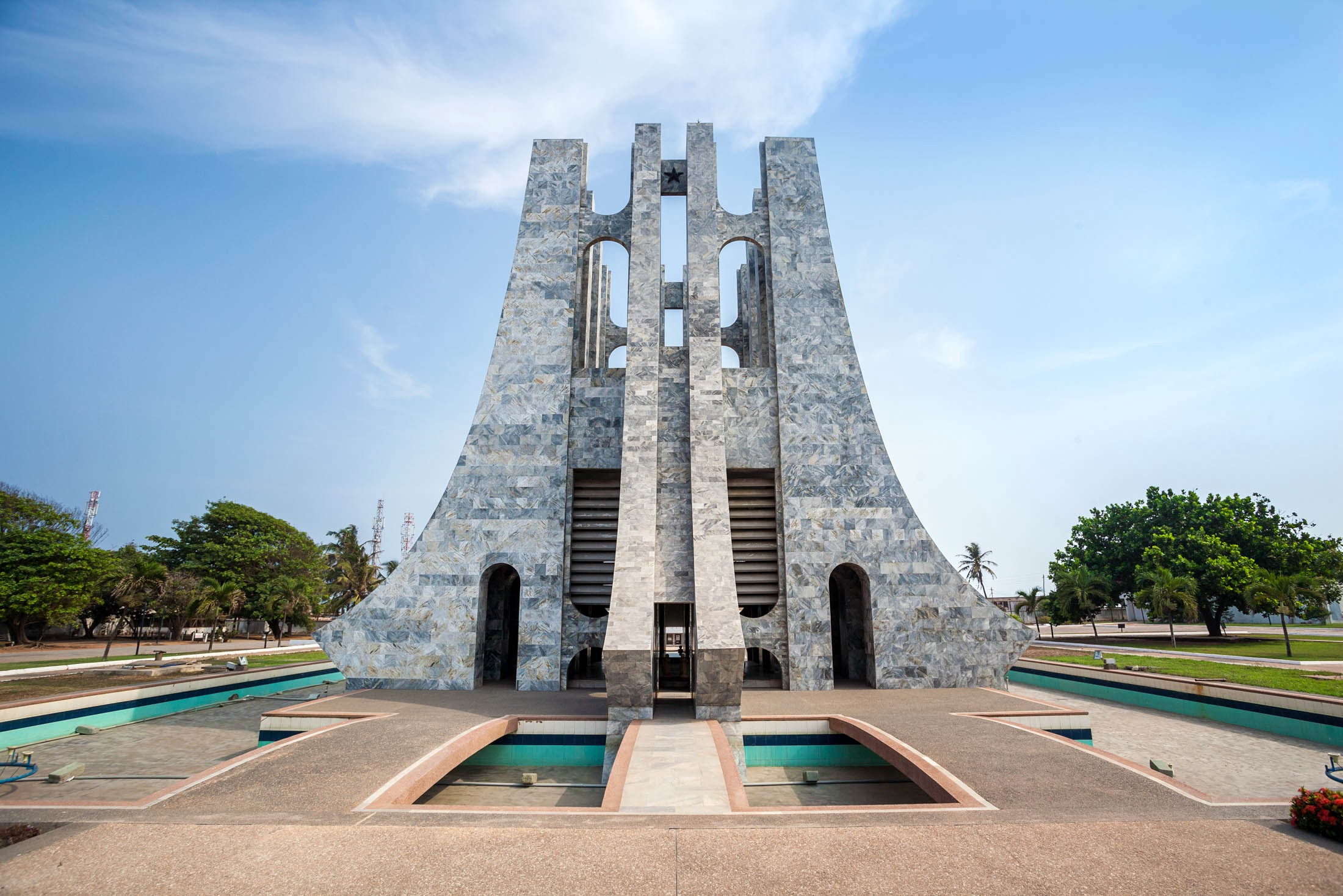 Nkrumah Memorial Park???First president of independent Ghana, West Africa