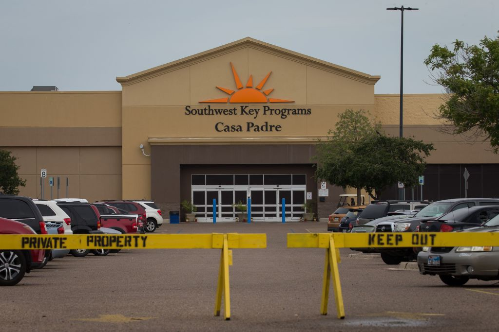 A former Walmart Supercenter repurposed as a migrant children?s shelter, with a new name Southwest Key Programs Casa Padre.