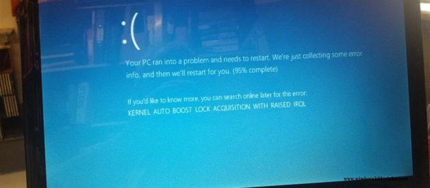 Windows 10 blue screen of Death Error codes and Solutions