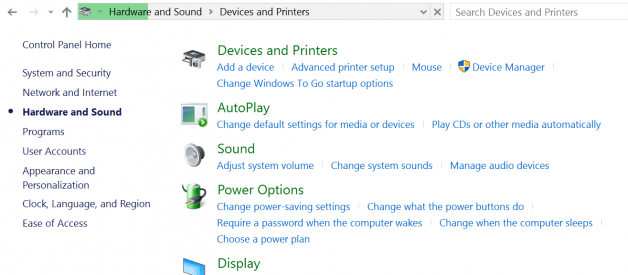 windows 10 devices and printers hangs and won't open